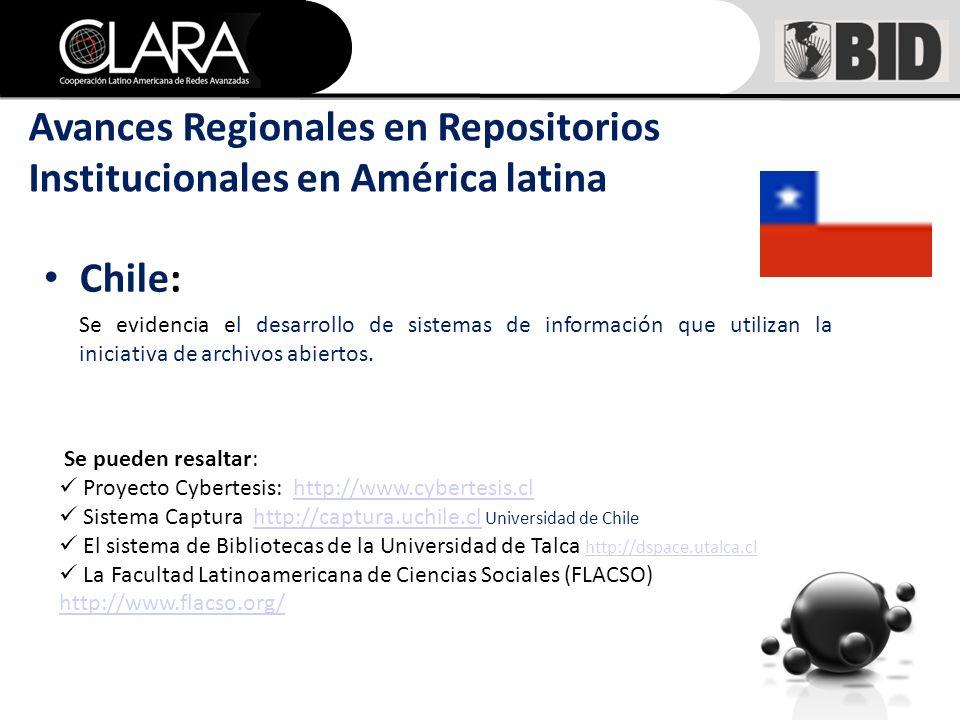 Chile: Se evidencia el desarrollo de sistemas de información que utilizan la iniciativa de archivos abiertos.