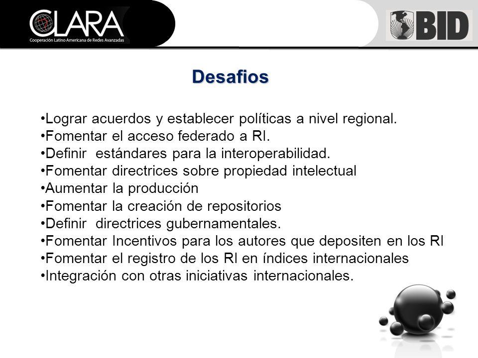 Desafios Lograr acuerdos y establecer políticas a nivel regional.