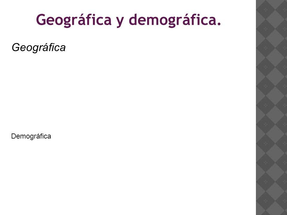 Geográfica y demográfica. Geográfica Demográfica