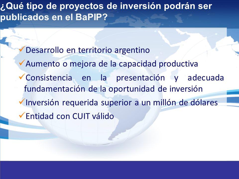 10 ¿Qué tipo de proyectos de inversión podrán ser publicados en el BaPIP.
