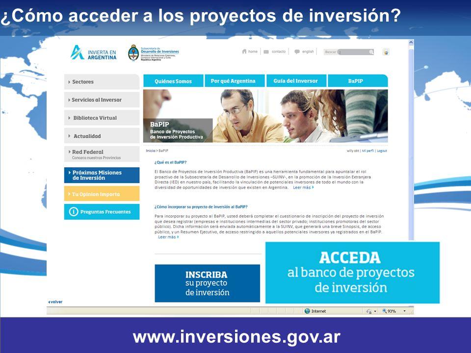11 ¿Cómo acceder a los proyectos de inversión? www.inversiones.gov.ar