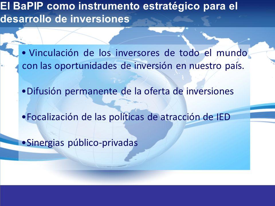 3 Vinculación de los inversores de todo el mundo con las oportunidades de inversión en nuestro país.