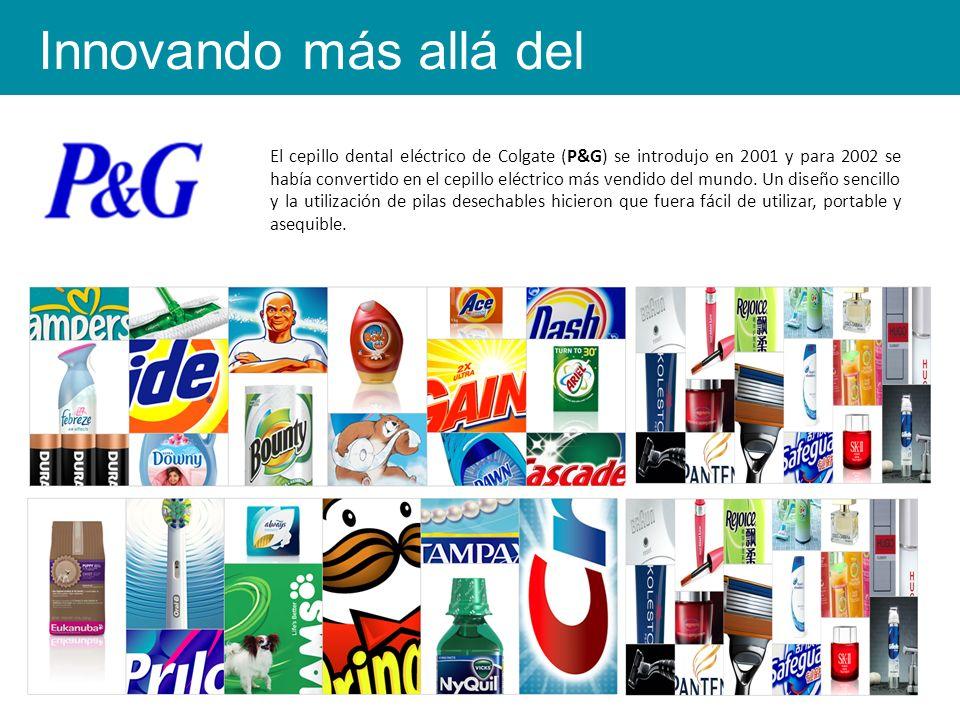 El cepillo dental eléctrico de Colgate (P&G) se introdujo en 2001 y para 2002 se había convertido en el cepillo eléctrico más vendido del mundo.