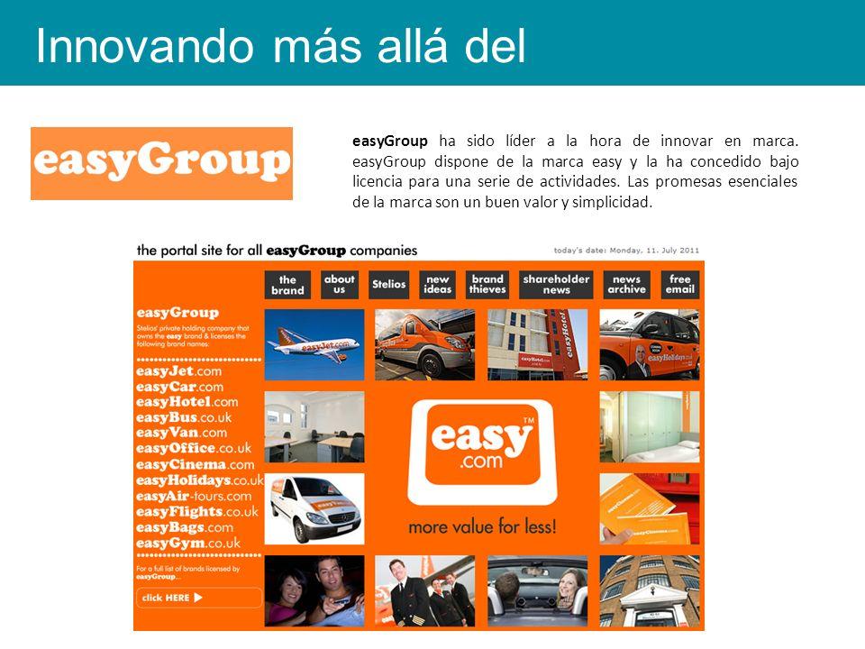 easyGroup ha sido líder a la hora de innovar en marca.