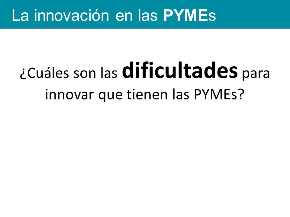 La innovación en las PYMEs ¿Cuáles son las dificultades para innovar que tienen las PYMEs