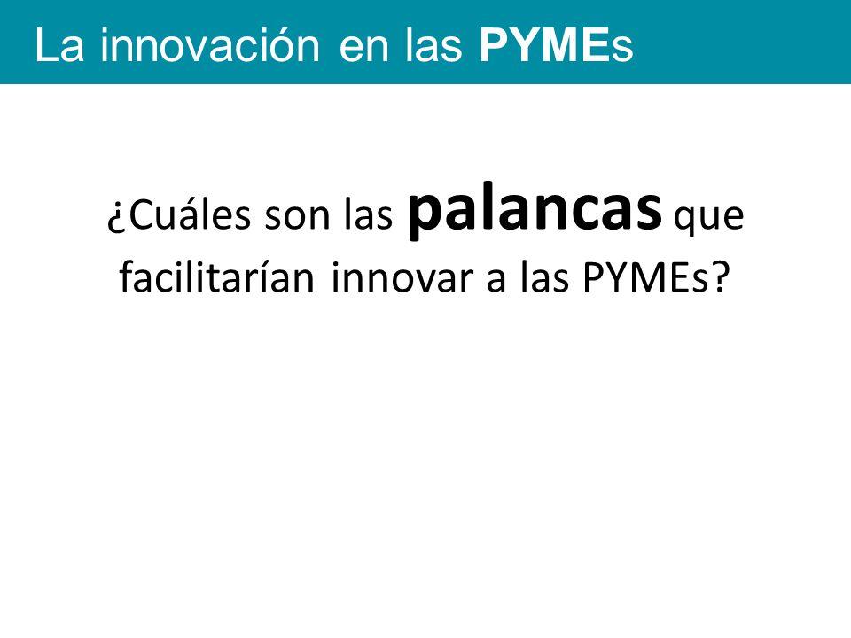 ¿Cuáles son las palancas que facilitarían innovar a las PYMEs La innovación en las PYMEs