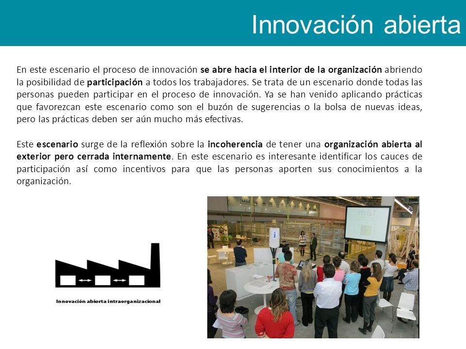 En este escenario el proceso de innovación se abre hacia el interior de la organización abriendo la posibilidad de participación a todos los trabajadores.