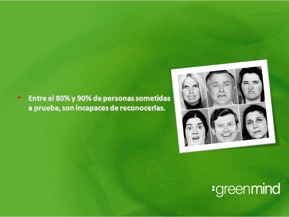 Entre el 80% y 90% de personas sometidas a prueba, son incapaces de reconocerlas. Entre el 80% y 90% de personas sometidas a prueba, son incapaces de