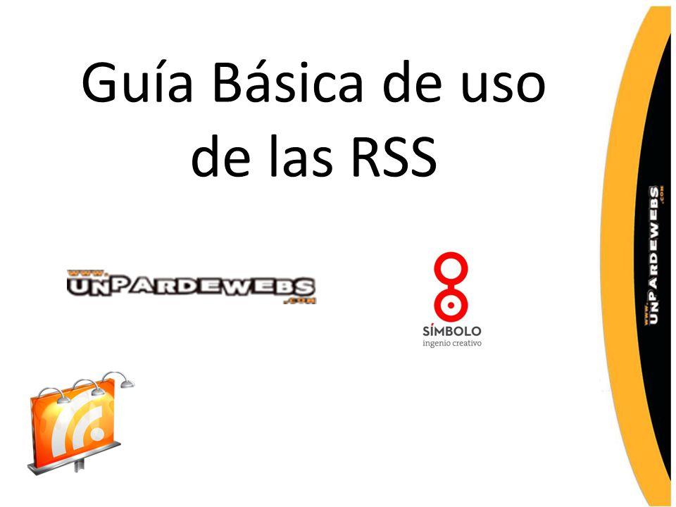 Guía Básica de uso de las RSS