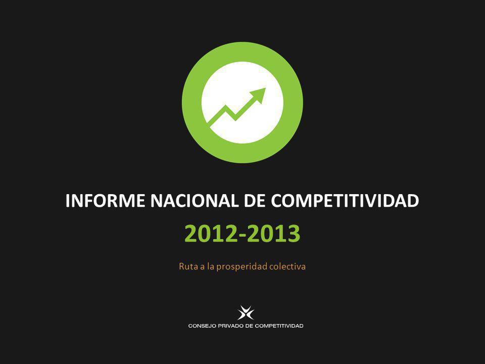 INFORME NACIONAL DE COMPETITIVIDAD 2012-2013 Ruta a la prosperidad colectiva