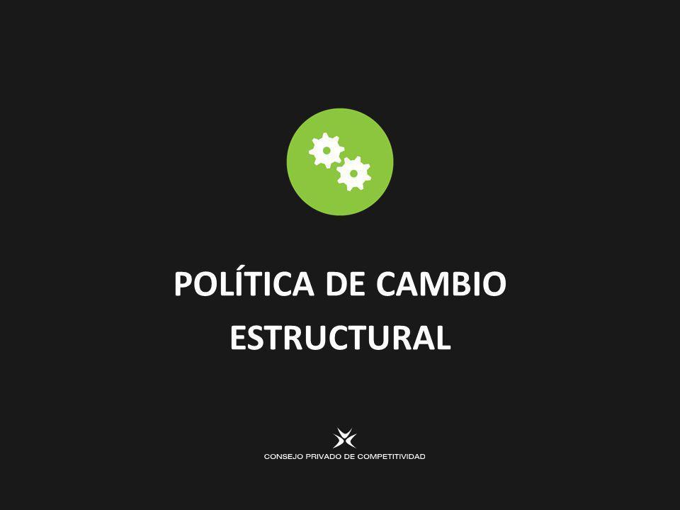 POLÍTICA DE CAMBIO ESTRUCTURAL