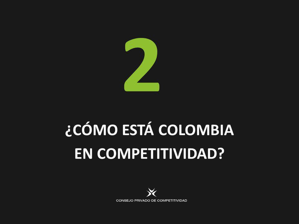 ¿CÓMO ESTÁ COLOMBIA EN COMPETITIVIDAD 2