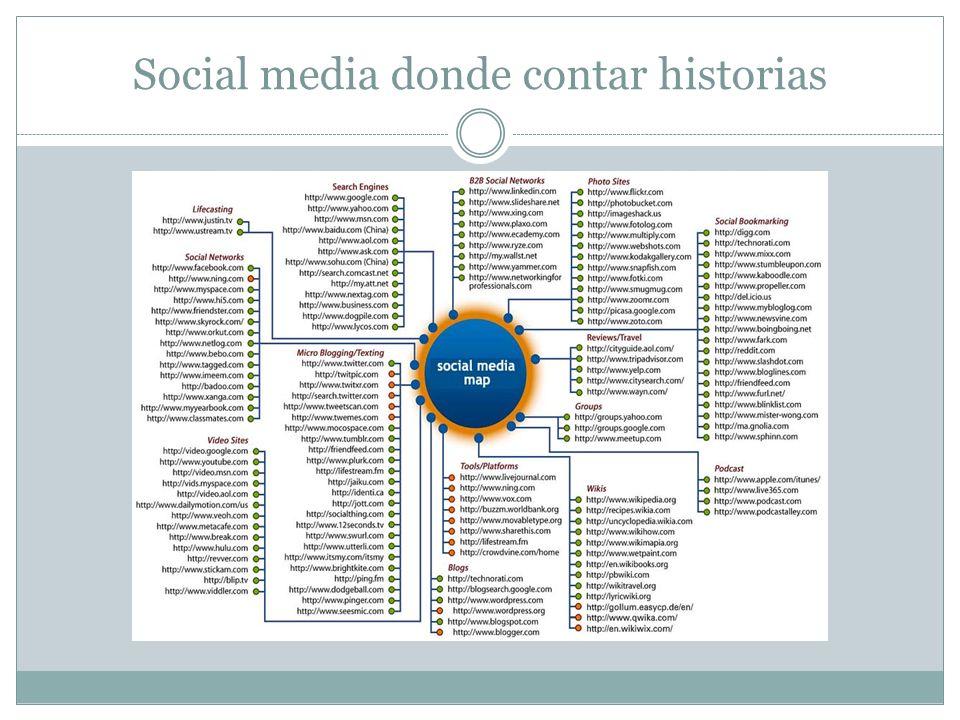 Social media donde contar historias