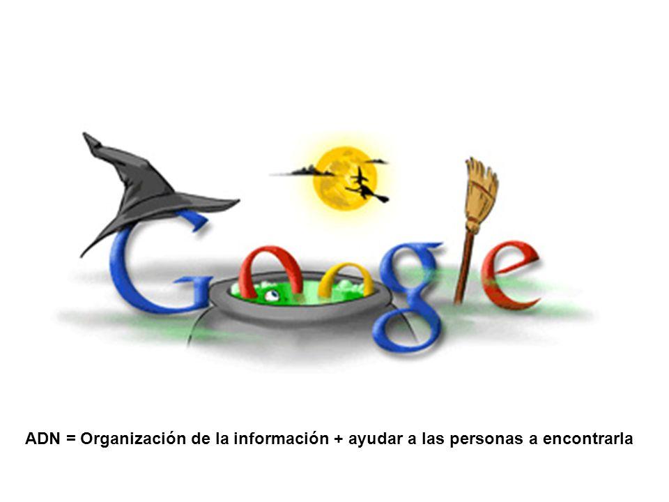 ADN = Organización de la información + ayudar a las personas a encontrarla