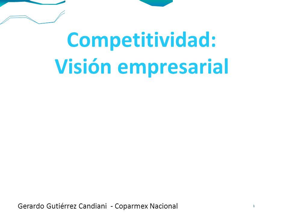 Competitividad: Visión empresarial Gerardo Gutiérrez Candiani - Coparmex Nacional 1