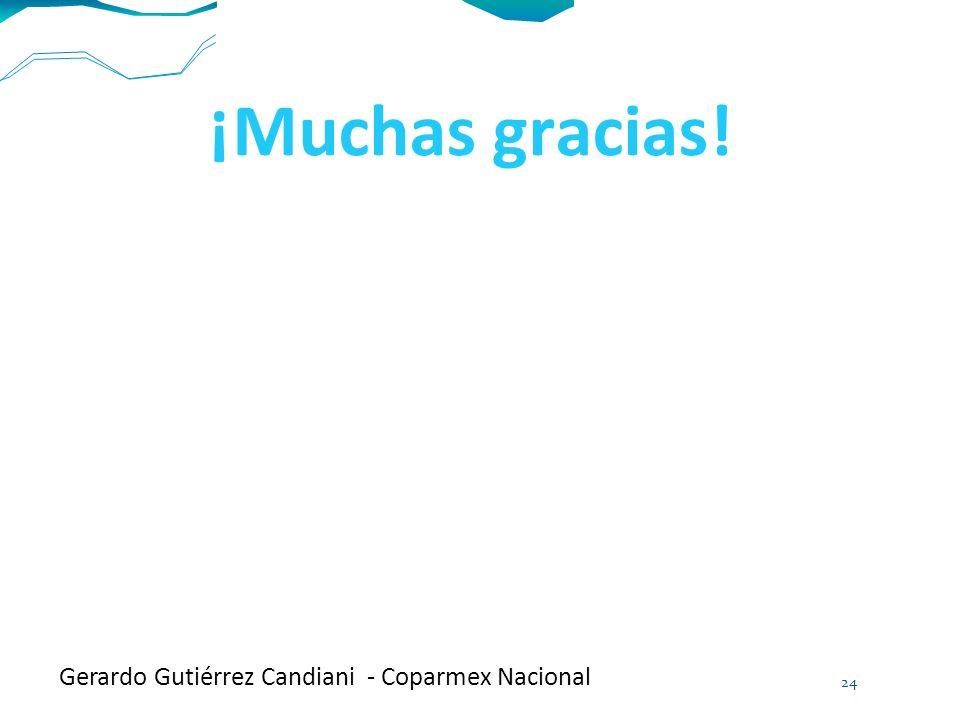 ¡Muchas gracias! Gerardo Gutiérrez Candiani - Coparmex Nacional 24
