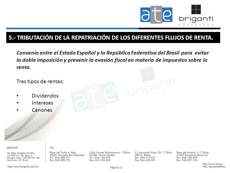 Convenio entre el Estado Español y la República Federativa del Brasil para evitar la doble imposición y prevenir la evasión fiscal en materia de impue