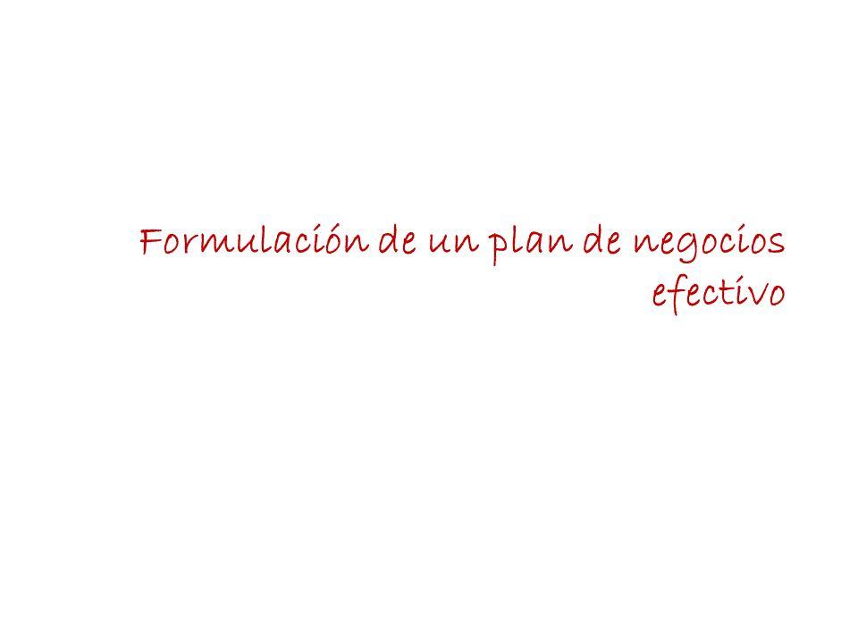 Formulación de un plan de negocios efectivo