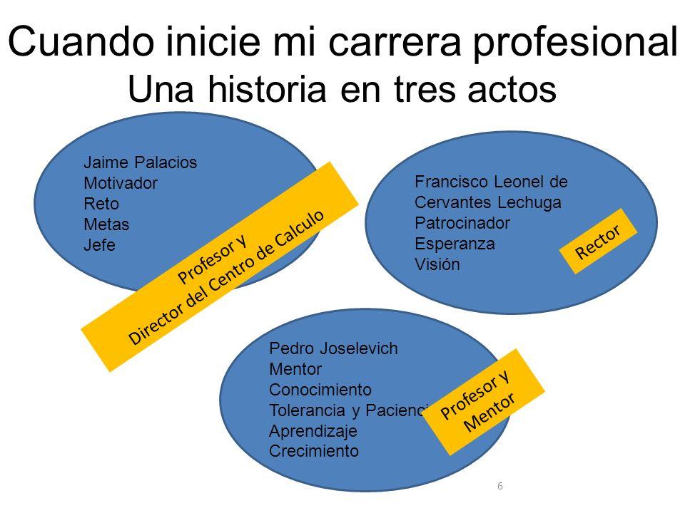 Fijando la vista en crear una gran empresa de tecnología Evento en 1974: ¿Porque el Ingeniero Mexicano no es Empresario.
