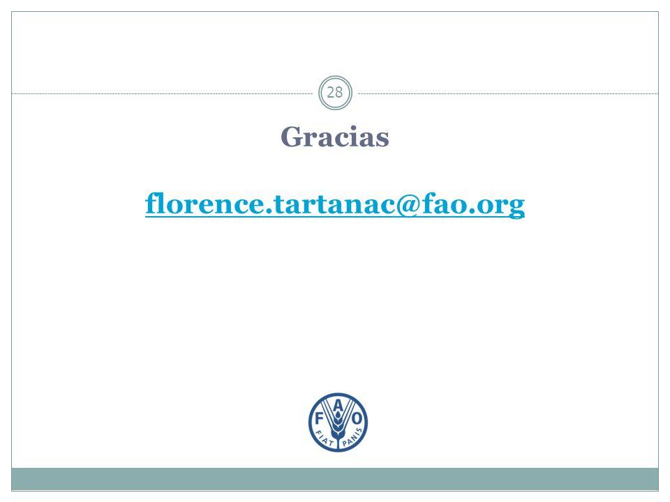 Gracias florence.tartanac@fao.org florence.tartanac@fao.org 28