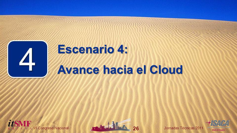 26 VI Congreso NacionalJornadas Técnicas 2011 26 VI Congreso NacionalJornadas Técnicas 2011 Escenario 4: Avance hacia el Cloud 44