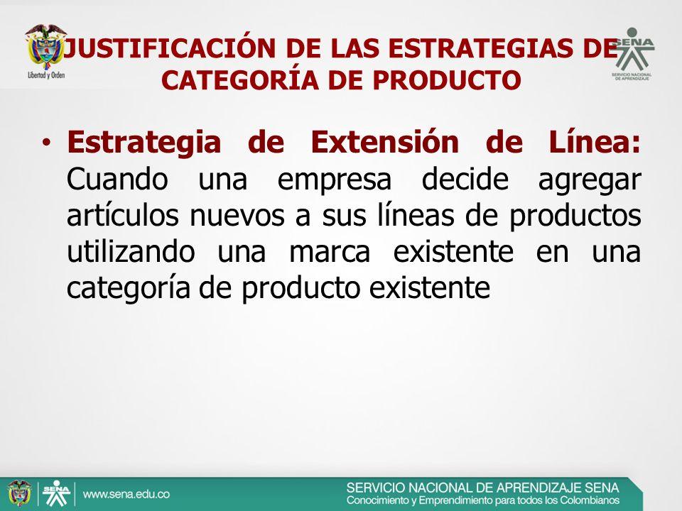 Estrategia de Extensión de Línea: Cuando una empresa decide agregar artículos nuevos a sus líneas de productos utilizando una marca existente en una c