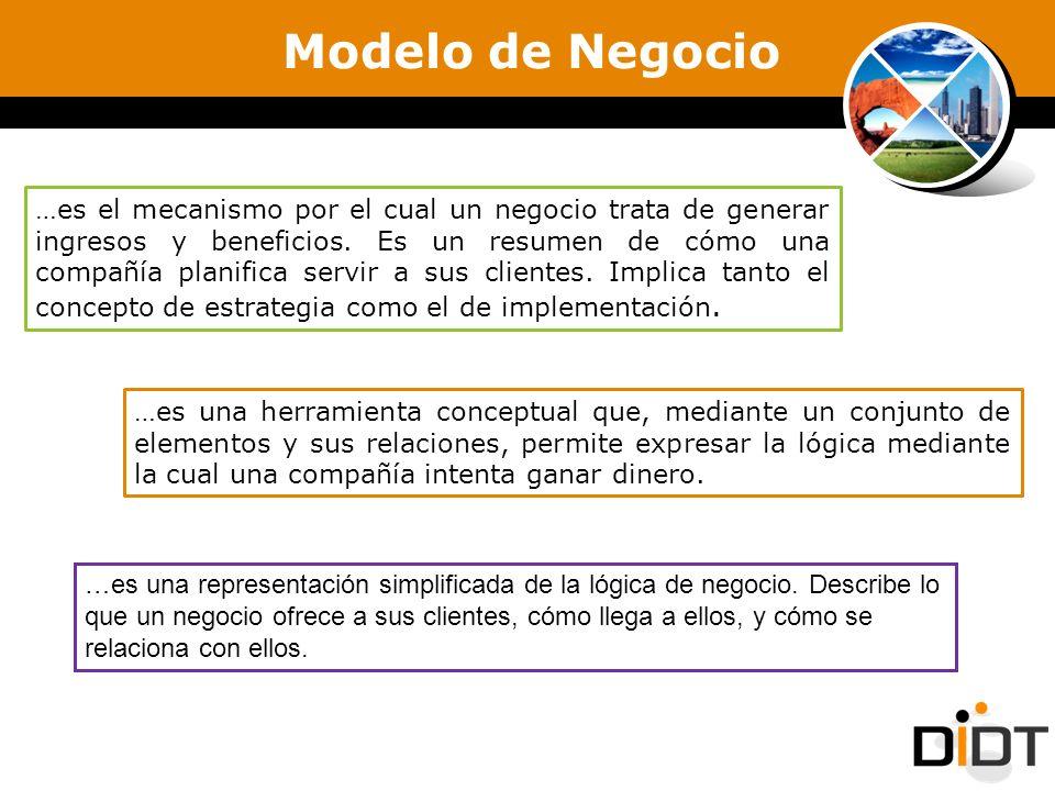 Modelo de Negocio …es el mecanismo por el cual un negocio trata de generar ingresos y beneficios. Es un resumen de cómo una compañía planifica servir