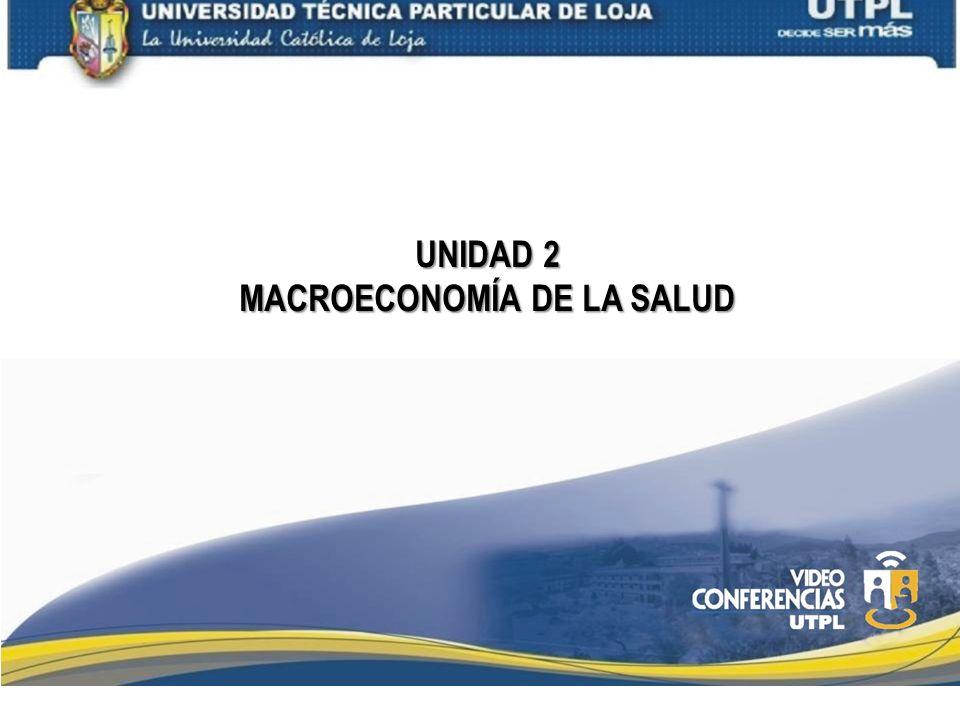 UNIDAD 2 MACROECONOMÍA DE LA SALUD