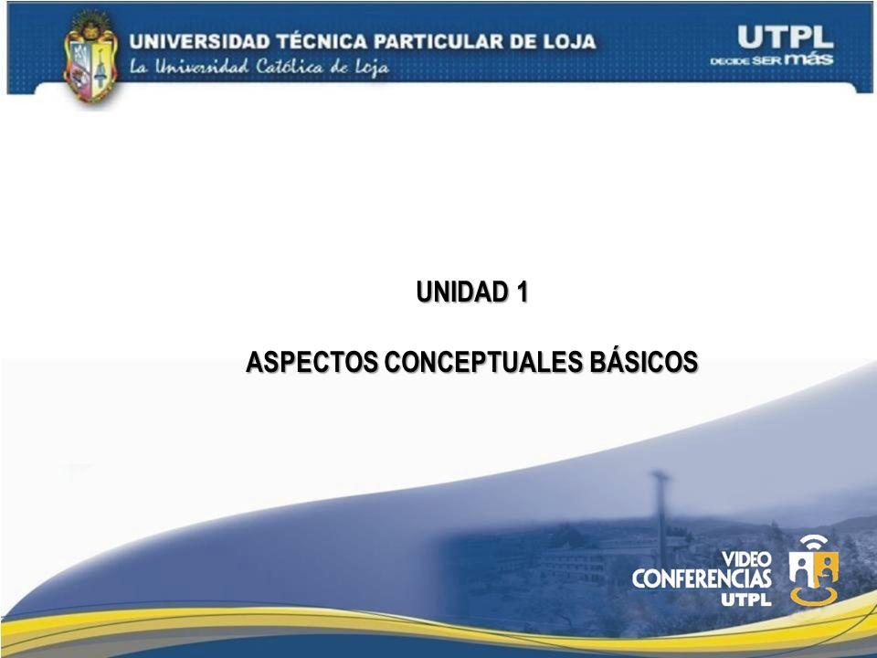 UNIDAD 1 ASPECTOS CONCEPTUALES BÁSICOS