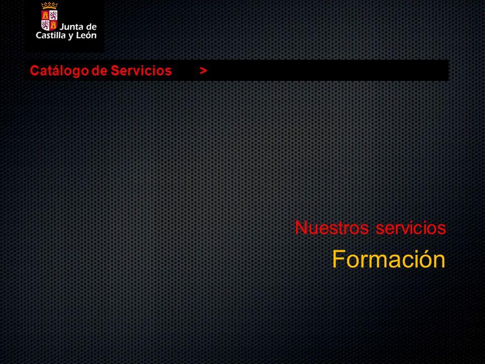 Catálogo de Servicios> Nuestros servicios Formación