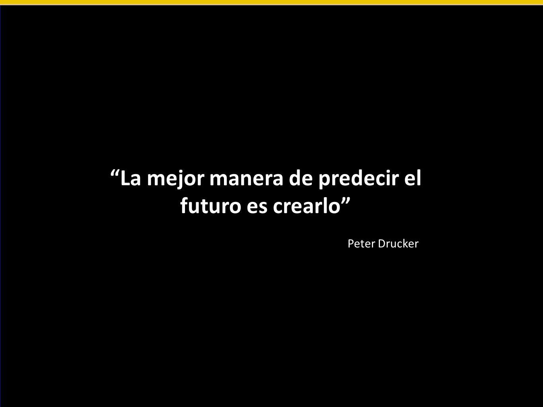 La mejor manera de predecir el futuro es crearlo Peter Drucker
