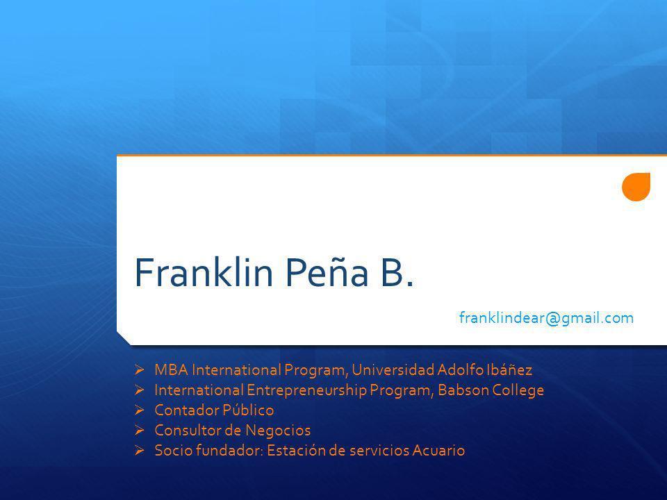 Franklin Peña B.