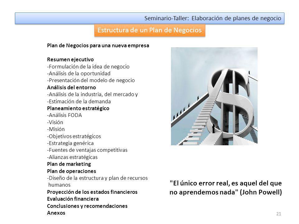 3ra.Parte: Estructura del Plan de Negocios 1.