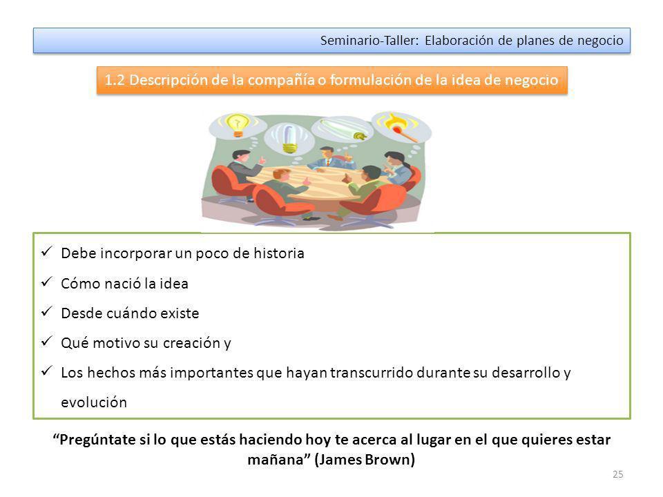 24 Seminario-Taller: Elaboración de planes de negocio 1.