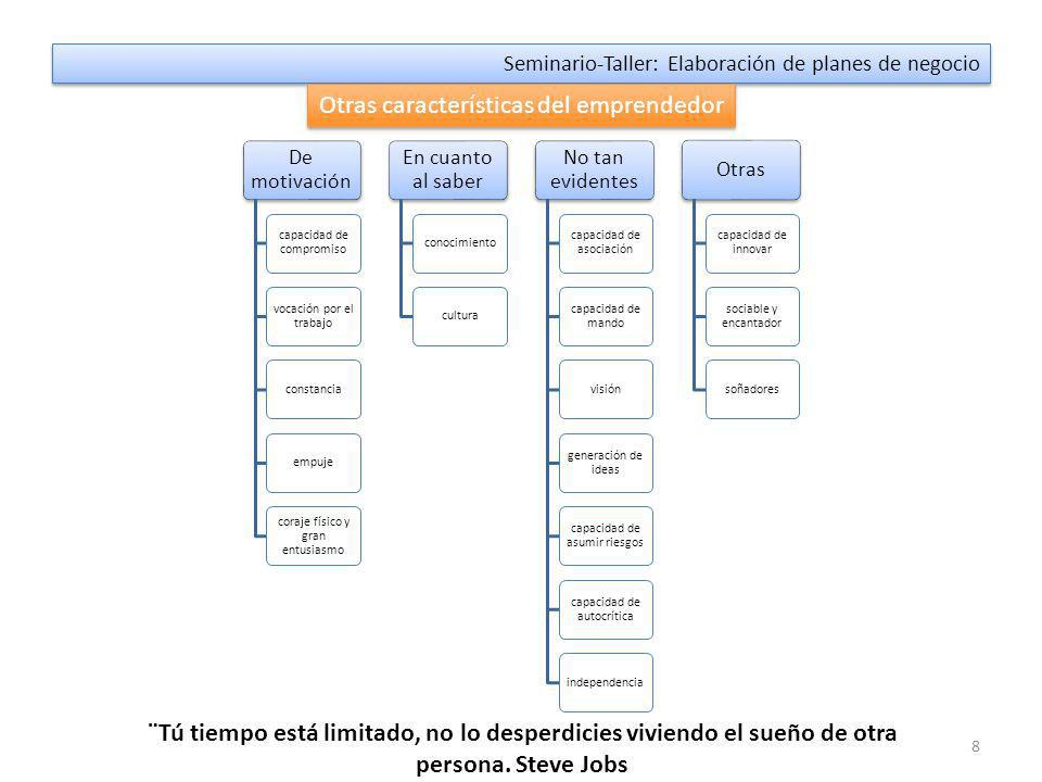 18 Seminario-Taller: Elaboración de planes de negocio Tipos de planes de negocio Planes de negocios Para empresa en marcha - Debe evaluar la nueva unidad de negocio.