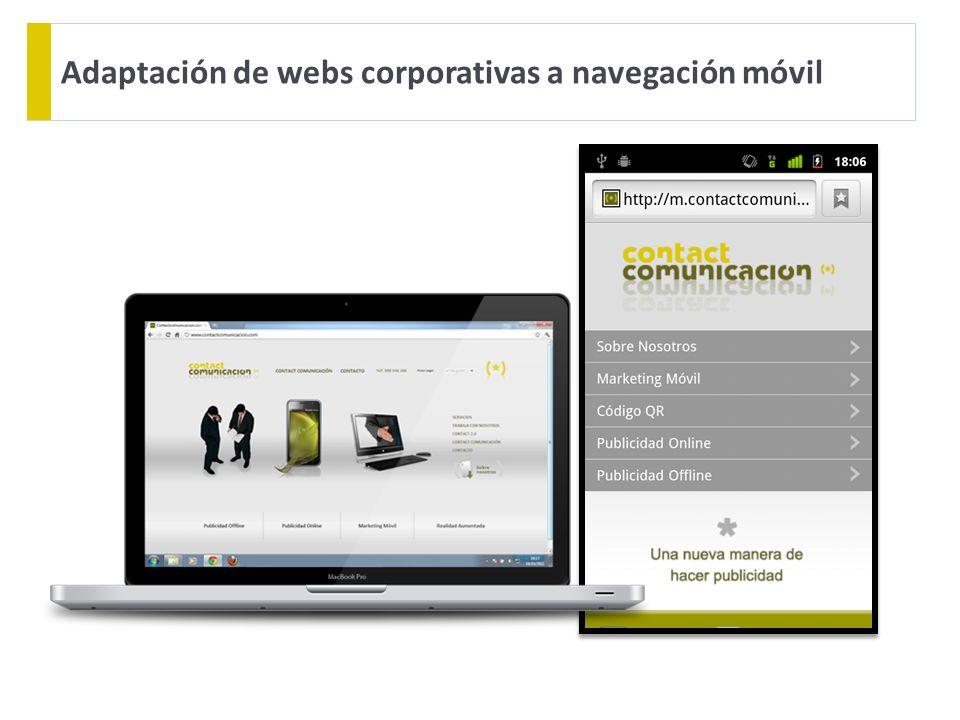 Adaptación de webs corporativas a navegación móvil