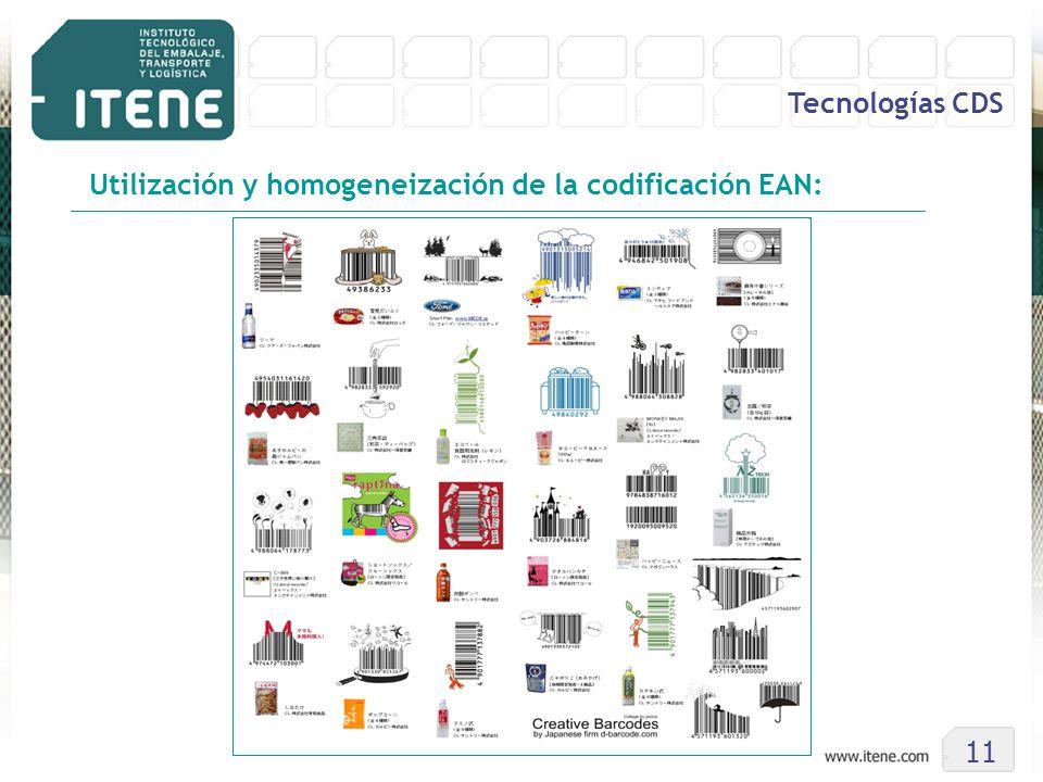 11 Tecnologías CDS Utilización y homogeneización de la codificación EAN:
