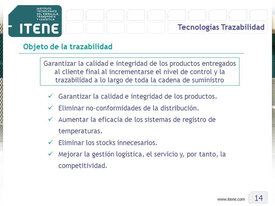 Garantizar la calidad e integridad de los productos entregados al cliente final al incrementarse el nivel de control y la trazabilidad a lo largo de t