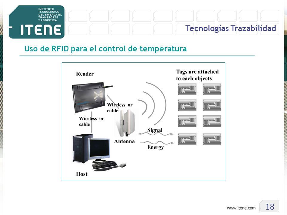 18 Tecnologías Trazabilidad Uso de RFID para el control de temperatura