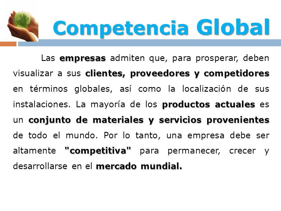 empresas clientes, proveedores y competidores productos actuales conjunto de materiales y servicios provenientes