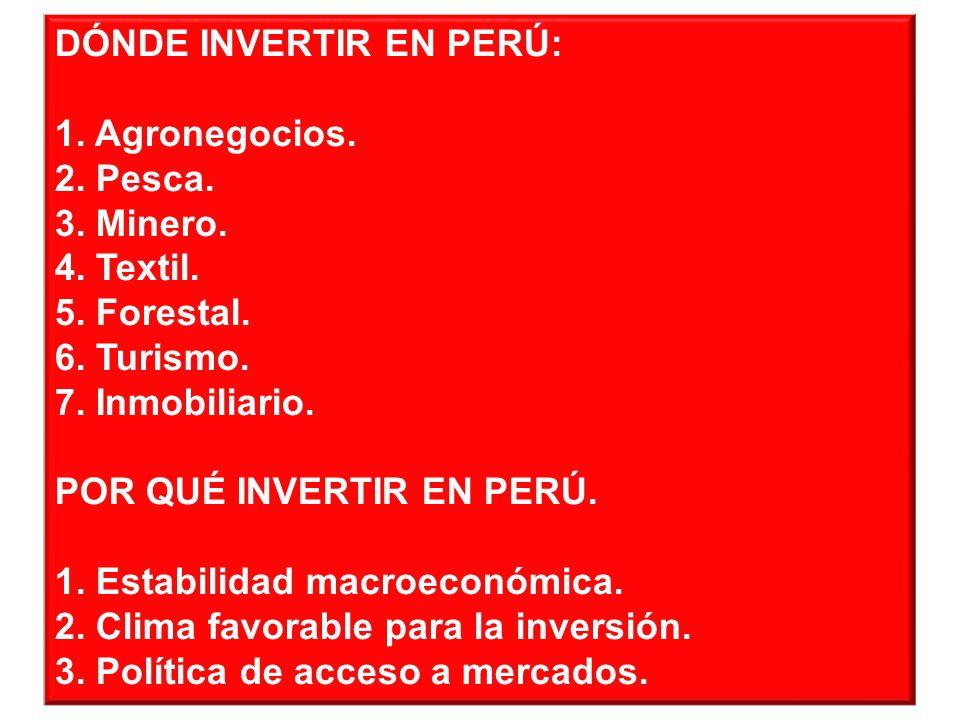 ¿Dónde invertir en Perú?