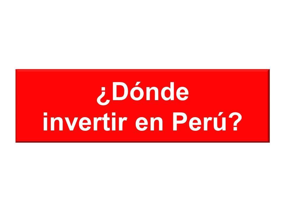 ¿Dónde invertir en Perú