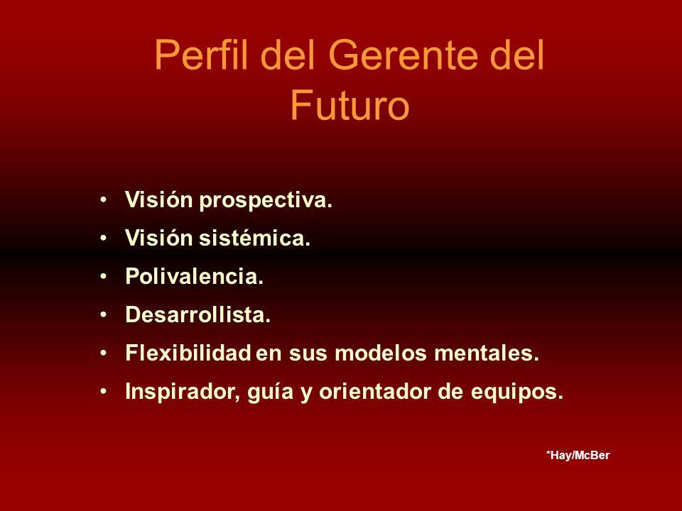 Perfil del Gerente del Futuro Visión prospectiva. Visión sistémica.