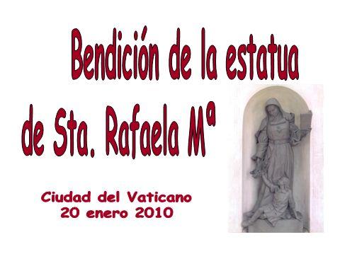 Esta es la imagen que hay en la parroquia de Sta.Rafaela Mª (Córdoba).