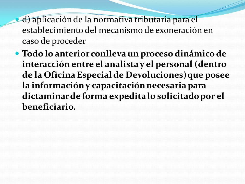 MECANISMOS DE CONTROL DIRECCION EJECUTIVA DE INGRESOS (12% IMPUESTO SOBRE VENTAS) Para todos y cada uno de los casos en el proceso de análisis previo a la emisión de dictámenes técnicos existen controles manuales generales llevados de forma manual para todas las solicitudes mismas que son: a) Registro manual del expediente b) Verificación de la documentación adjunta por tipo de beneficiario c) validación del beneficio concedido en Convenio, Tratado, Decreto etc.