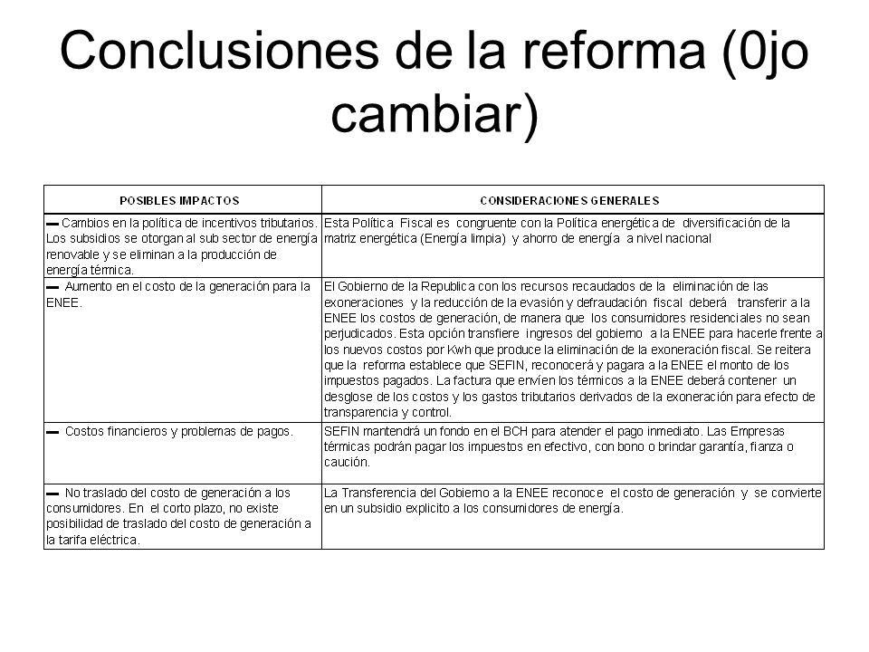 Conclusiones de la reforma (0jo cambiar)