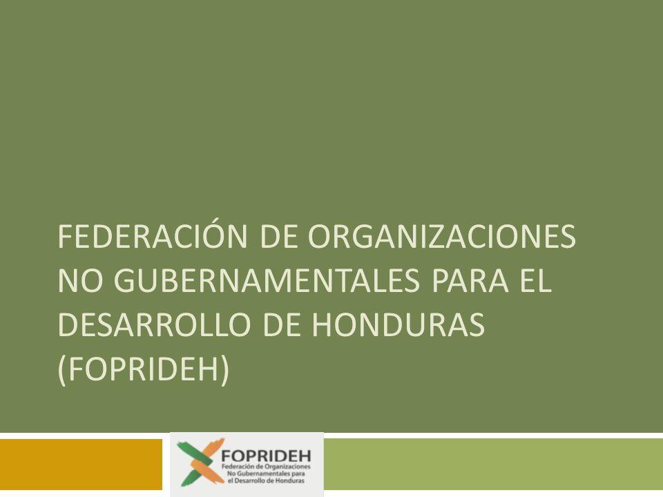 FEDERACIÓN DE ORGANIZACIONES NO GUBERNAMENTALES PARA EL DESARROLLO DE HONDURAS (FOPRIDEH)