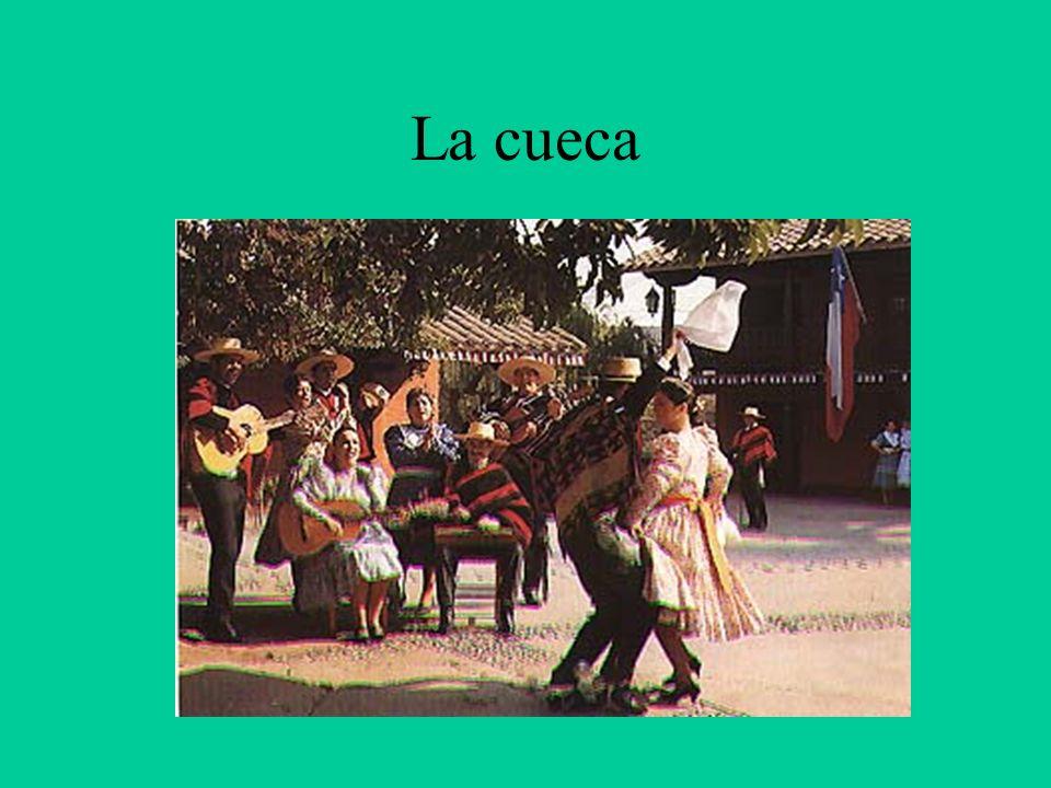 Cueca, canto y danza chilenos de origen peruano y con cierta influencia morisca.