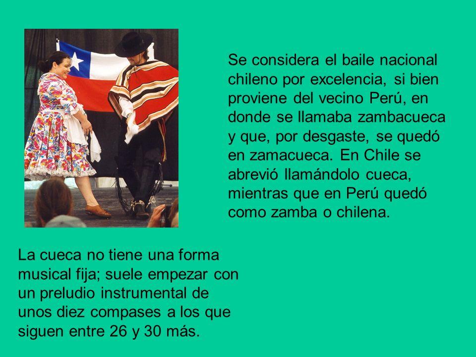 La historia de la cueca Se han bailado la cueca en Chile desde el año 1824.