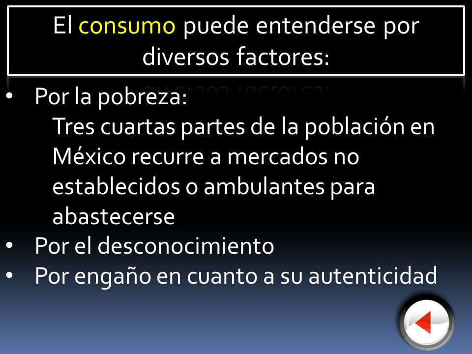Por la pobreza: Tres cuartas partes de la población en México recurre a mercados no establecidos o ambulantes para abastecerse Por el desconocimiento